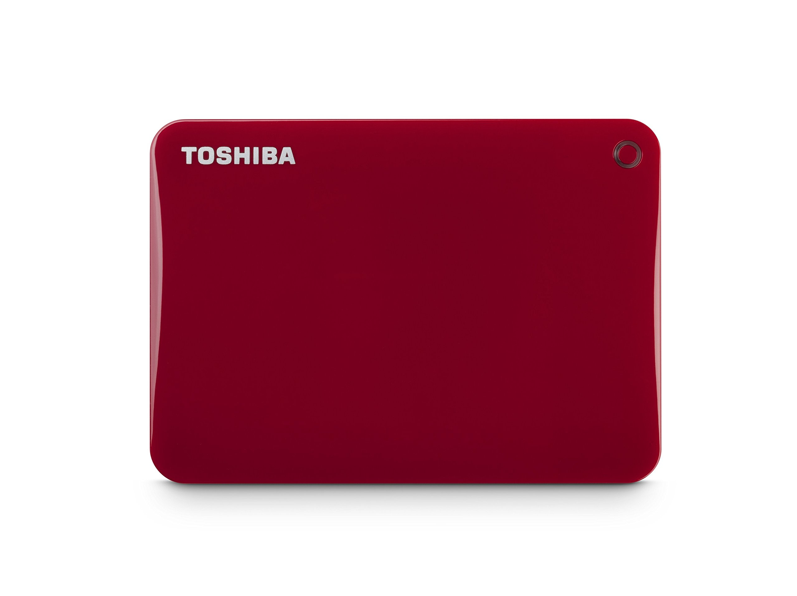 Toshiba Canvio Connect II 3TB Portable Hard Drive, Red (HDTC830XR3C1) by Toshiba