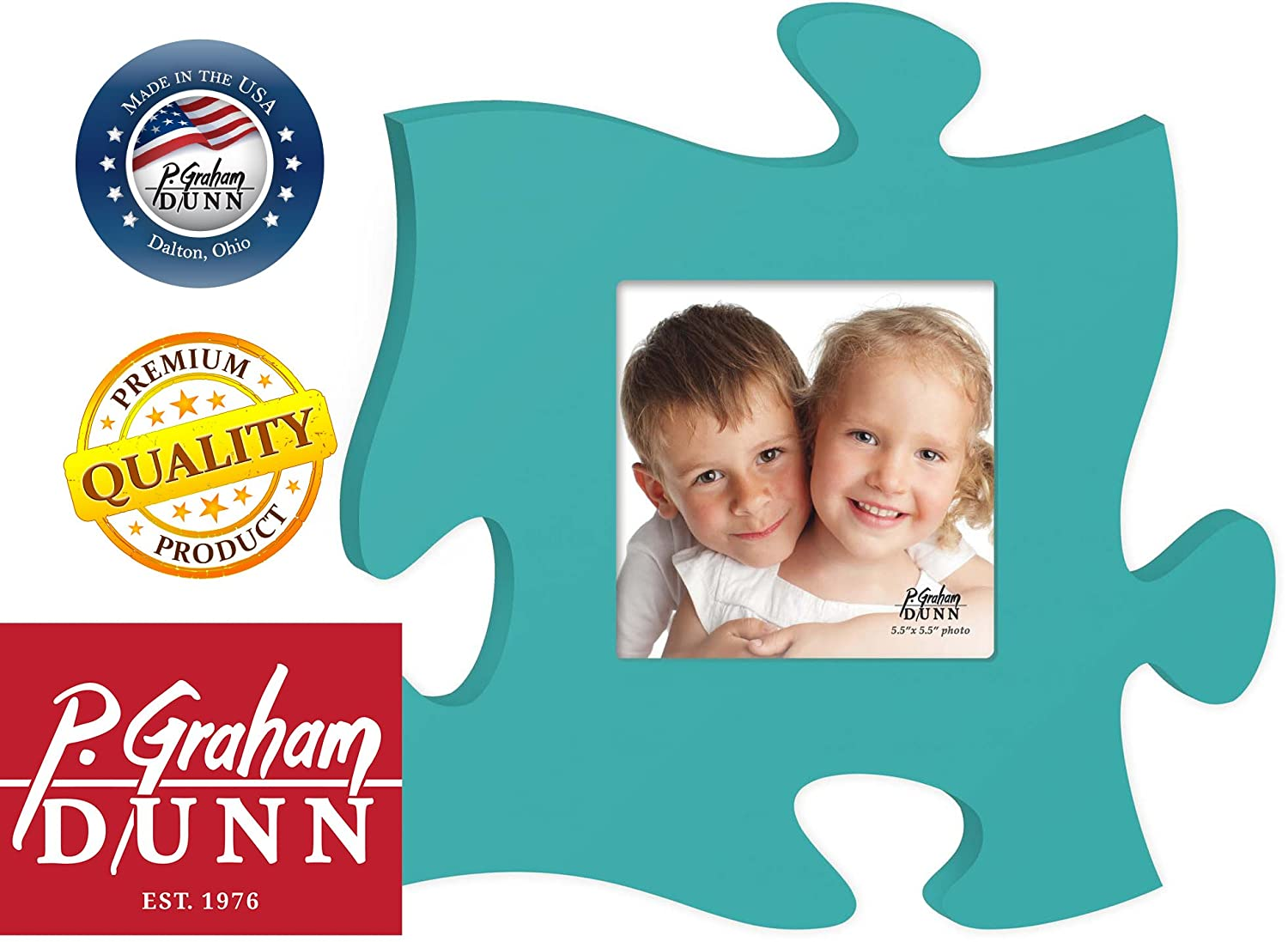 Amazon.com - Teal 12 x 12 Wall Hanging Wood Puzzle Piece Photo Frame -
