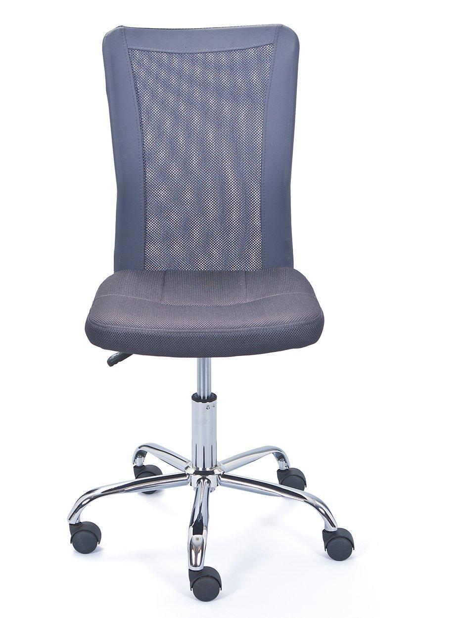 Inter Link Kinderdrehstuhl Bürostuhl Jugenddrehstuhl Schreibtischstuhl Drehstuhl Metall Bezug Mesh Grau