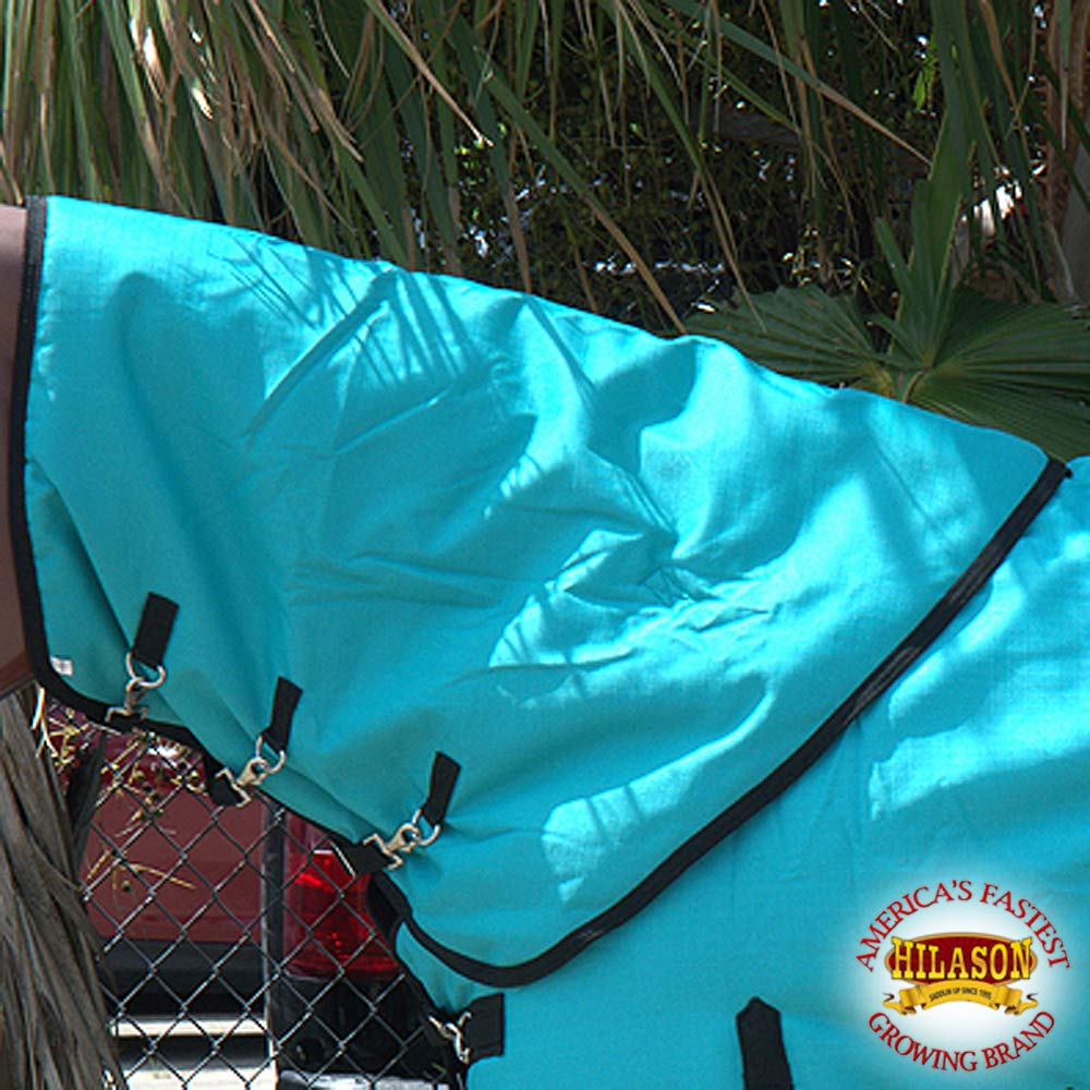 HILASON LRG 1200D Winter Waterproof Poly Turnout Horse Hood Neck Cover Turquoise