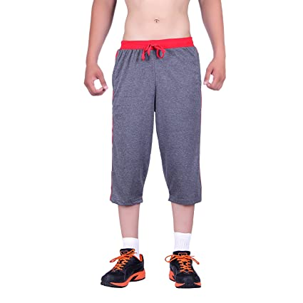 DFH Men's Regular Fit Capris Men's Casual Trousers at amazon