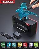 TECBOSS 3D Pen, SL300 Intelligent 3D Printing Pen