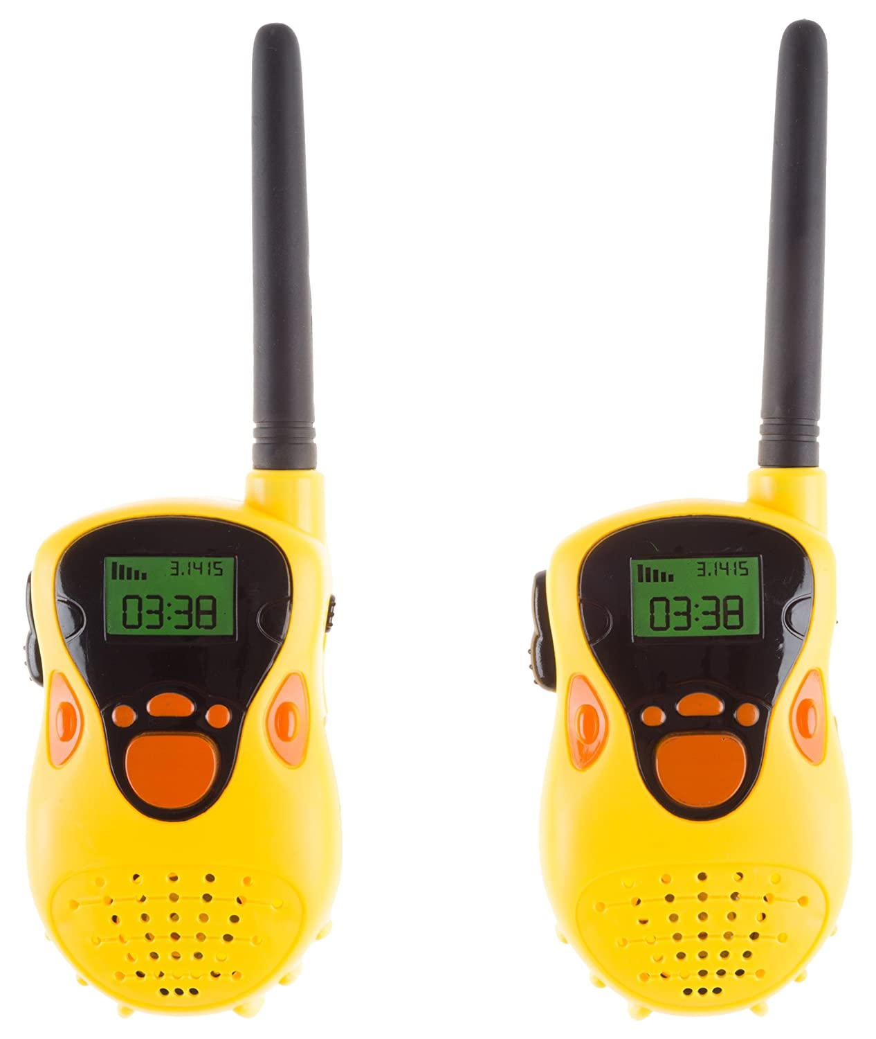 Hey! Play! 80-TK124565 Kids Walkie Talkie Set-2-Pack Indoor Outdoor Toy for Boys and Girls-Battery Operated and Easy to Use-Great for Fun Pretend Play, Yellow