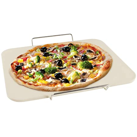 bremermann Piedra para Pizza con Rejilla para Servir, Cordierita ...