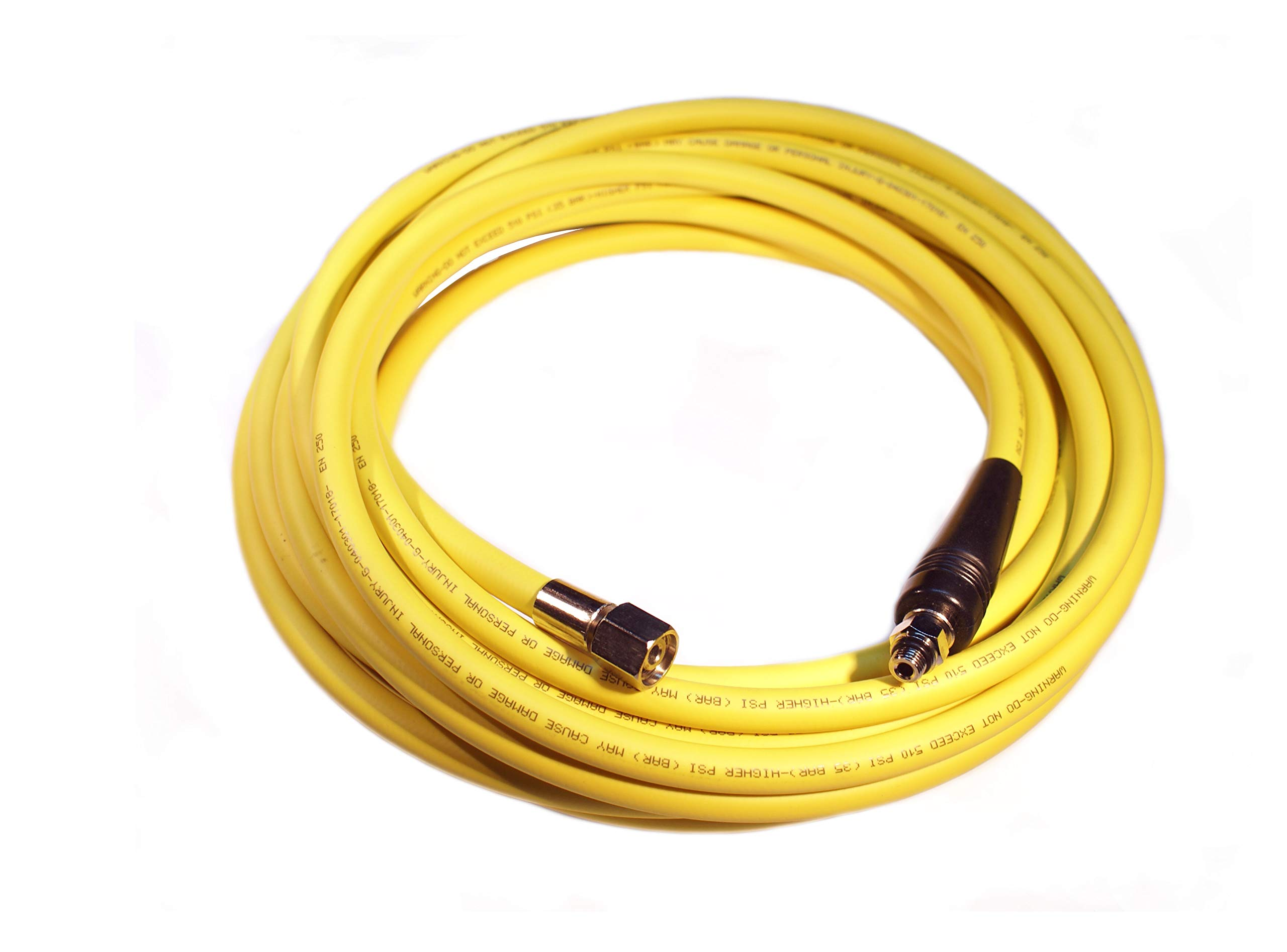 METALSUB Hookah, Scuba Regulator Hose. EN250 Certified, Yellow. (150ft / 46mts)