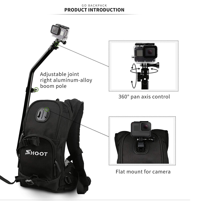 Amazon.com: SHOOT Selfie Pro - Mochila para GoPro Quick ...