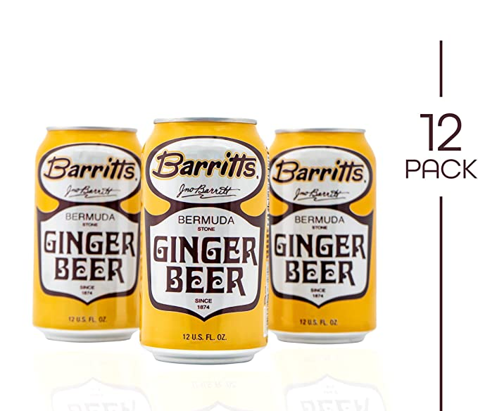 Barritt's Original Ginger Beer, Non-Alcoholic Soda Cocktail Mixer, 12 fl oz Cans, 12 Pack
