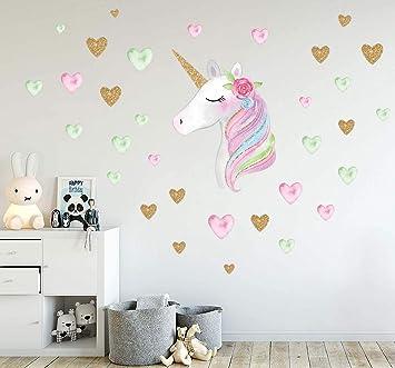 Unicorn Wall Decals Unicorn Wall Decor Stickers Birthday Gifts For Girls Kids Bedroom Decor Nursery
