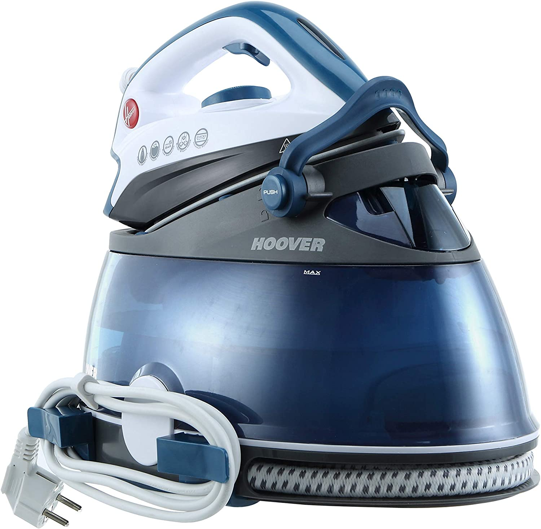 Hoover PRP2400 IronVision - Centro de Planchado, 2400 W, 5 bares, con 100 g de vapor constante, caldera 2 litros de capacidad, color azul petrol