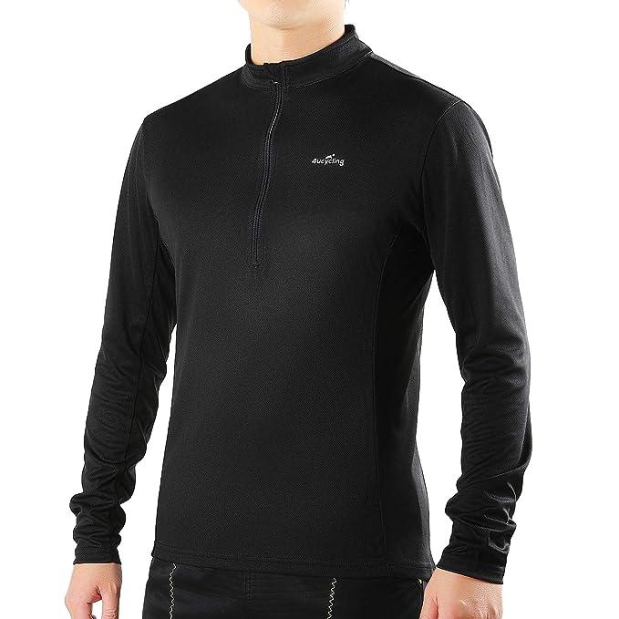 44fbf70ef09 Amazon.com : 4ucycling Short Sleeve Quick Dry Bike Jersey - US Size  Breathable Basic Shirts for Sports : Clothing