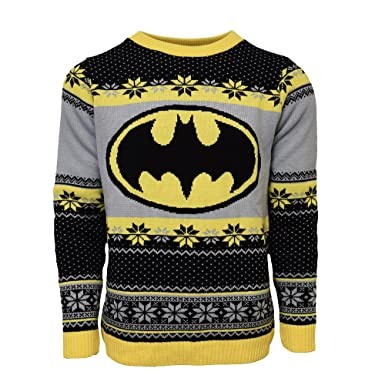 Official Batman Christmas Jumper / Ugly Sweater at Amazon Men's ...