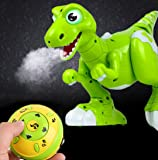 YEEZEE Wireless Remote Control Robot Dinosaur Interactive RC Dinosaur Toy Sprays Water Mist, Senses Gesture, Sings, Dances for Boys, Girls, Kids, Children