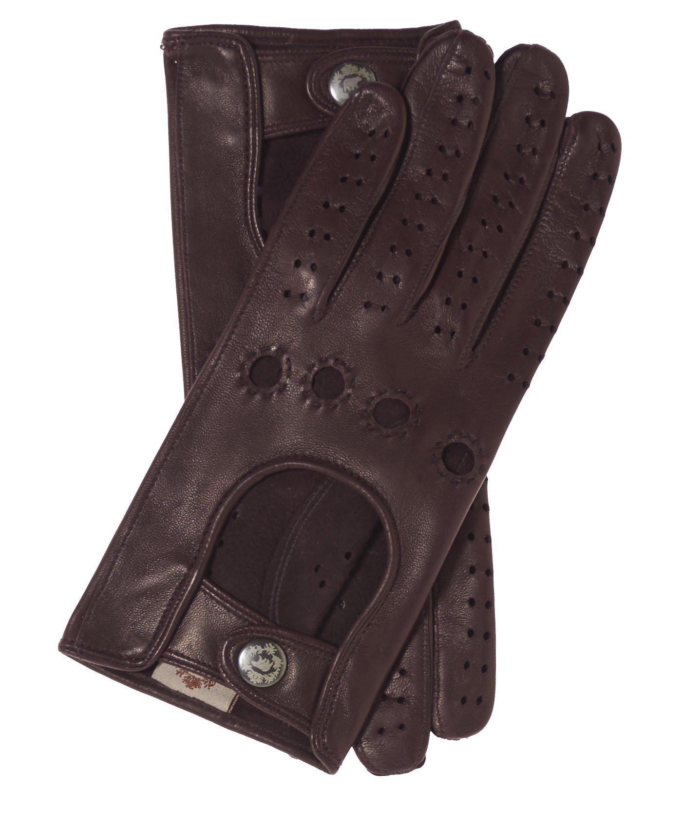 Fratelli Orsini Women's Italian Leather Driving Gloves Size 6 1/2 Color Cordovan