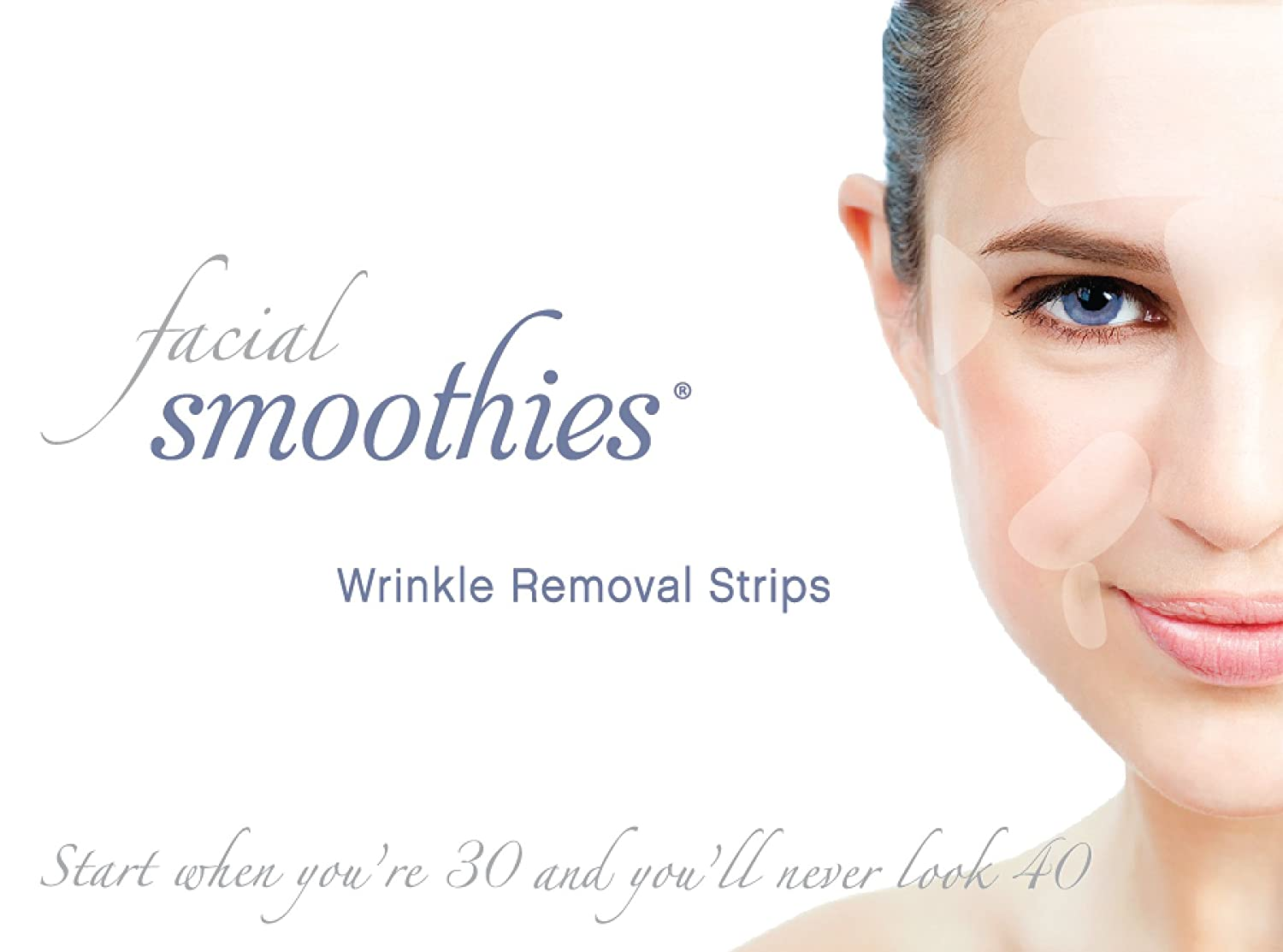 Facial Smoothies Wrinkle Remover Strips - Anti-Wrinkle Patches - Anti-Aging Treatment - Anti Wrinkle Treatment 120 Wrinkle Remover Strips