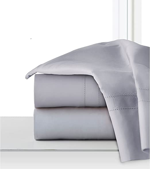 Pointehaven 620-thread con algodón de fibras largas juego de sábanas, algodón, gris, 2 Pack Standard Pillow Case ...