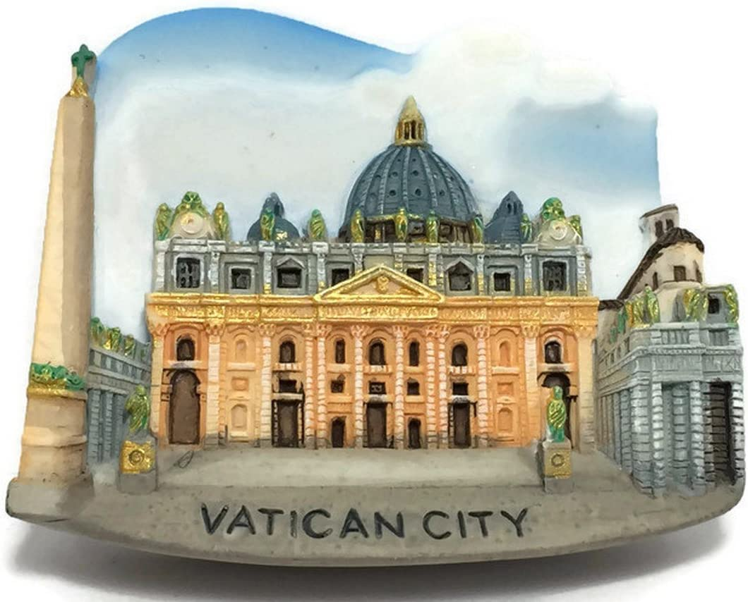 St. Peter's Basilica Vatican City Italy, High Quality Resin 3d Fridge Magnet