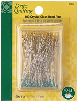 Dritz Crystal Glass Head Quilting Pins