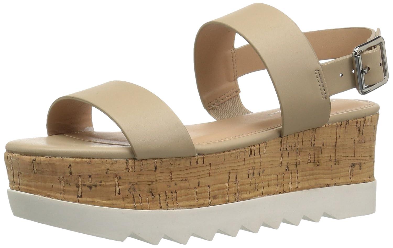 Madden Girl Women's Sugarr Wedge Sandal B077DFLVWH 9 B(M) US|Nude Paris