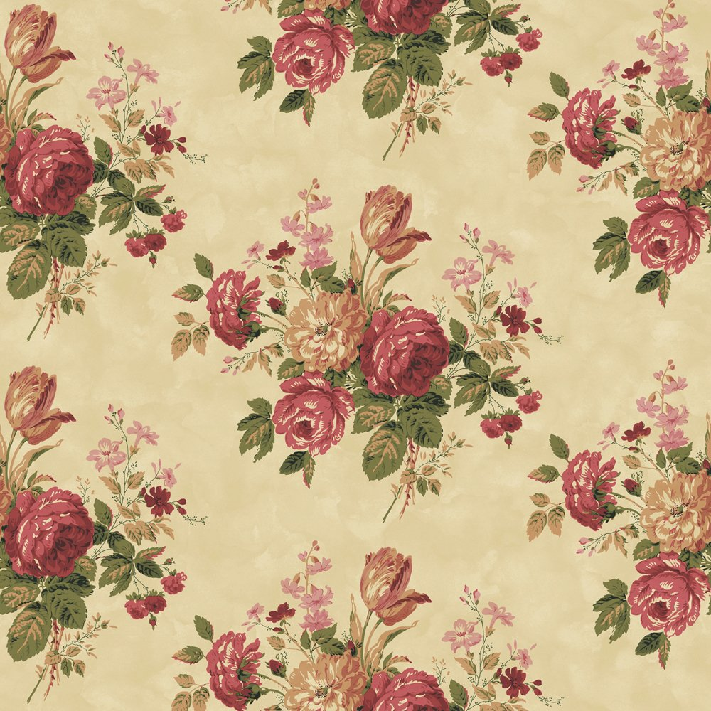 Decorate By Color BC1581001 Purple Cottage Rose Wallpaper