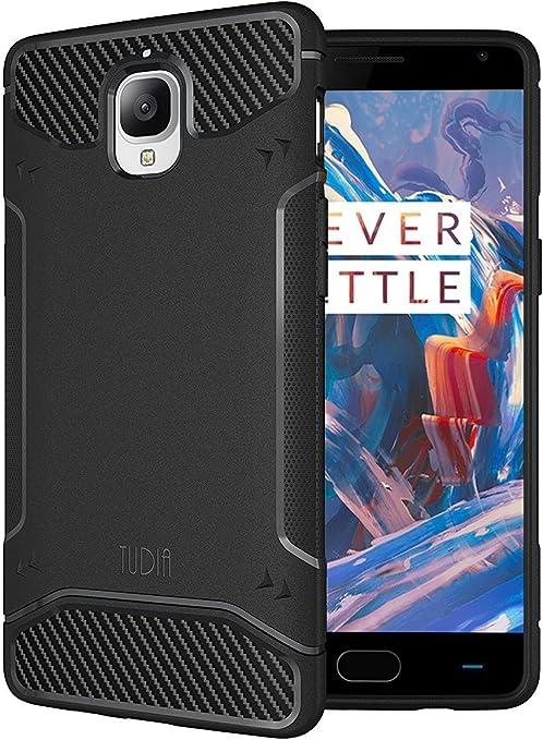 TUDIA OnePlus 3T / 3 Funda, Ultra Delgado Fibra de Carbon TAMM TPU ...