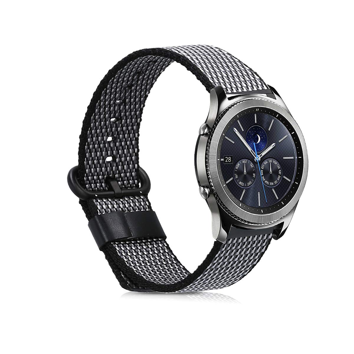 kwmobile Bracelet for Samsung Gear S3 Classic/Frontier - Nylon Watch Band Fitness Wristband in Anthracite