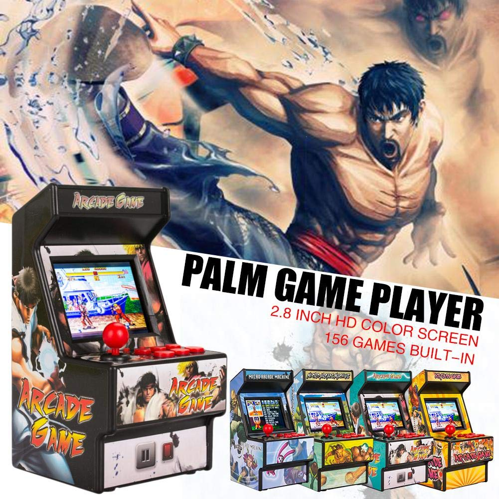 Yunn 2.5' TFT Mini Handheld Arcade Game Retro Machines for Kids with 156 Built-in Games,16 Bit Console New Street Fighter Home Arcade by Yunn (Image #5)