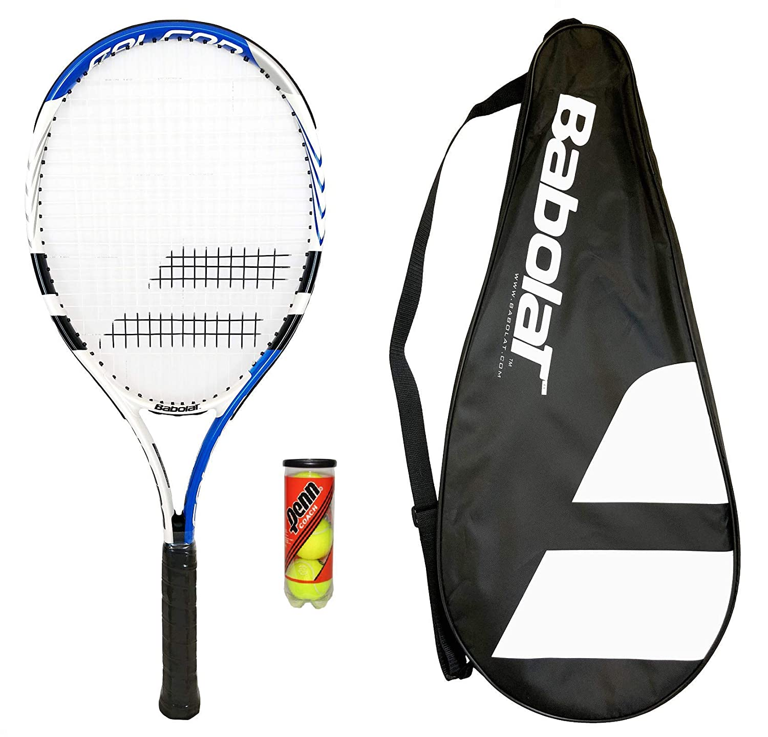 2732f38c39 Babolat 105 Tennis Racket + Carry Case + 3 Tennis Balls: Amazon.co.uk:  Sports & Outdoors