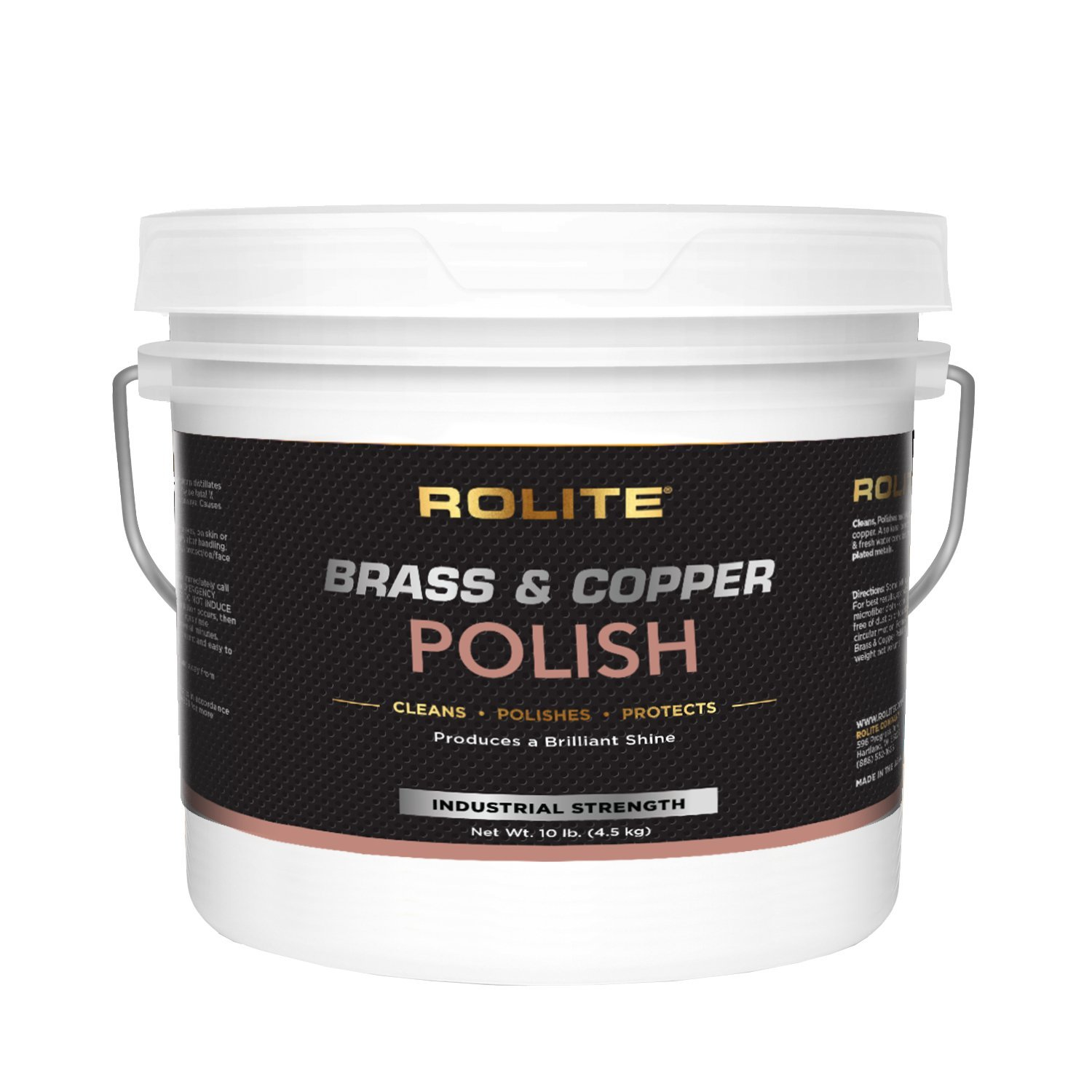 Rolite Brass & Copper Polish (10lb) Instant Polishing & Tarnish Removal on Railings, Elevators, Fixtures, Hotels, Cruise Ships, Office Buildings by Rolite (Image #1)