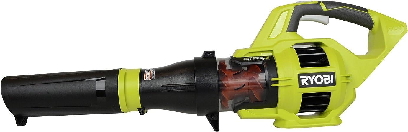 Certified Refurbished Ryobi RY40403 40V Lithium Ion 110 MPH Jet Fan Blower