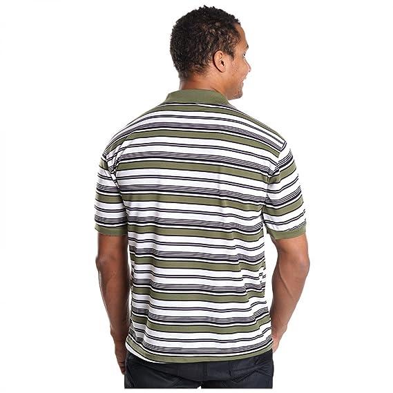 Herren Poloshirt Slim Fit T-Shirt Kurzarm Polo Hemd Baumwolle V-Neck Trends  H2537, Farbe:Khaki;Größe:XXL: Amazon.de: Bekleidung