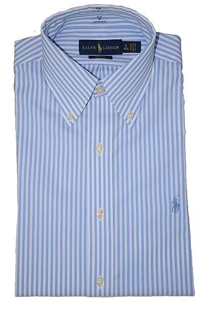 45622d58275a88 Image Unavailable. Image not available for. Color: RALPH LAUREN Men's Dress  Shirt Casual Buttondown Stripes ...