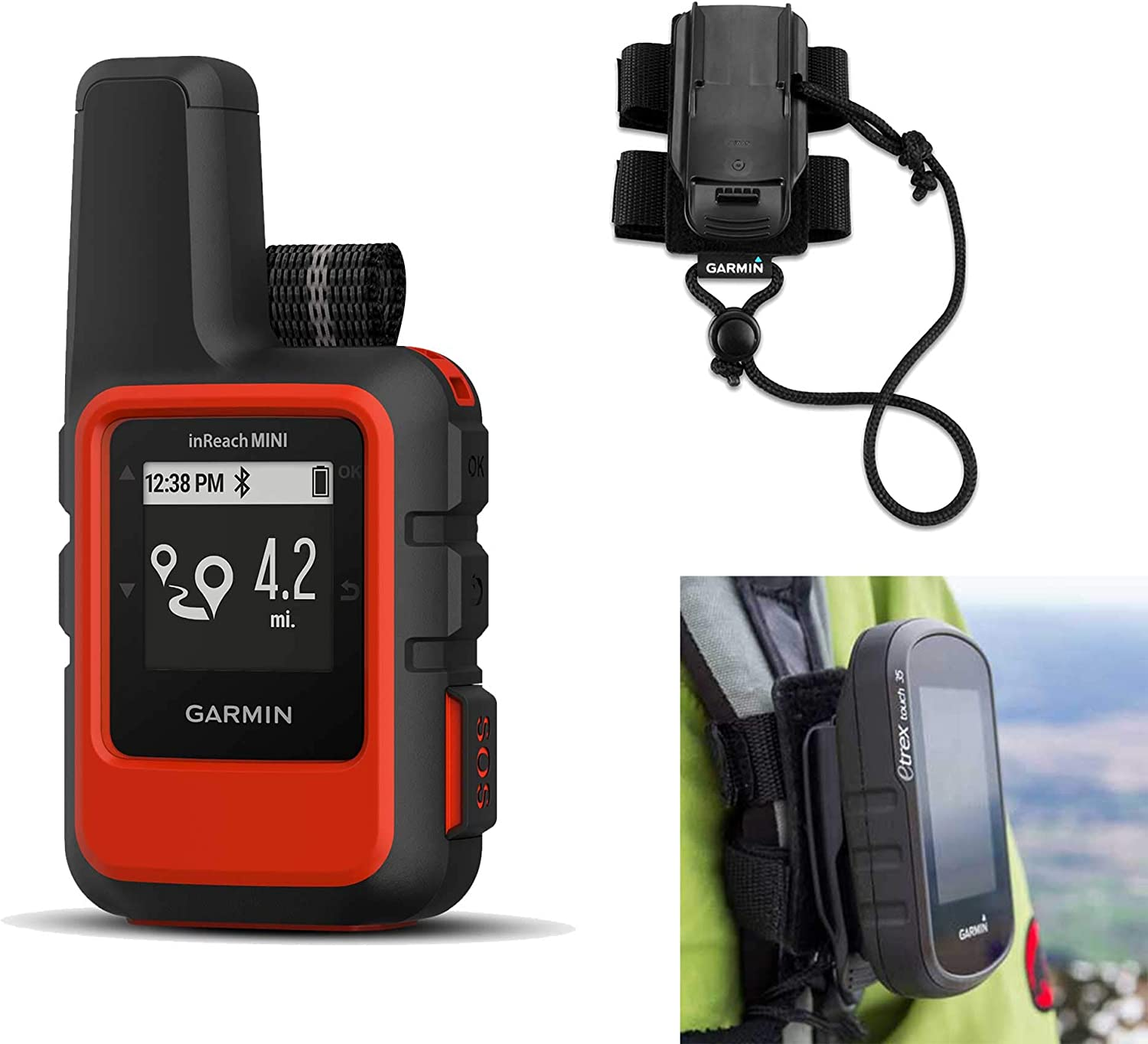 Lightweight and Compact Handheld Satellite Communicator with Screw Down Mount Garmin inReach Mini Marine Bundle