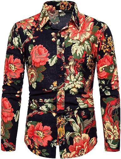 Poachers Camisas de Hombre Estampadas Camisas Hawaianas Cerveza Camisas Hombre Manga Larga Burdeos Camisas Hombre Verano Flores Camisetas Hombre ...
