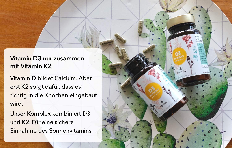 Sonnenvitamin Immun Combi Vitamin D3 I Plus Vitamin K2 Menachinon