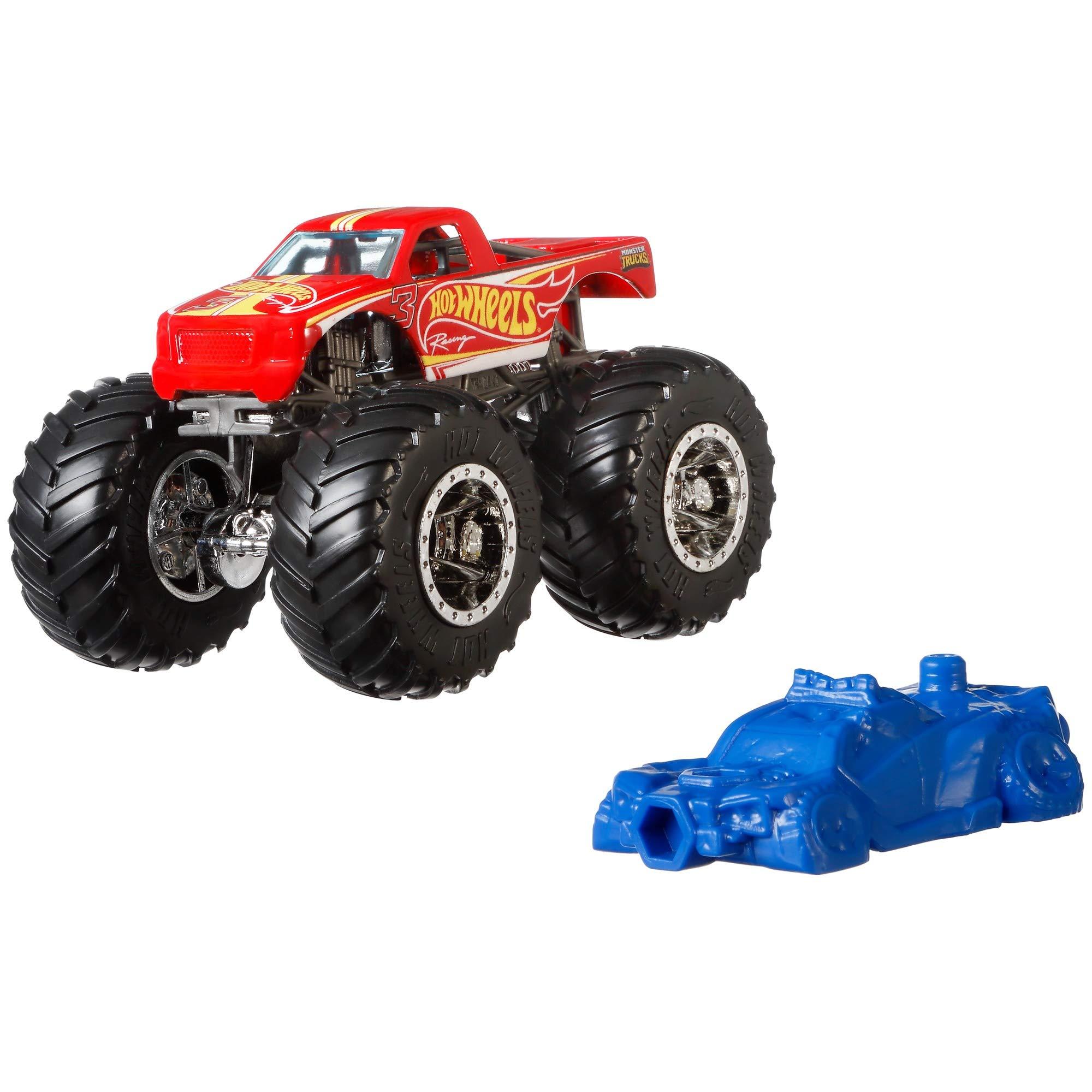 Hot Wheels GJY15 Monster Trucks 1:64 Scale Die-Cast Vehicle Racing 3, Multicolour