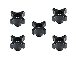 "POWERTEC 71076 1/4""-20 4 Point Knob (5 Pack)"