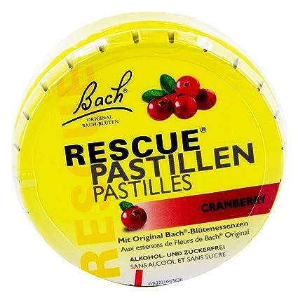 Bach Original Rescue Remedy Pastilles Cranberry 50g Amazon Fr