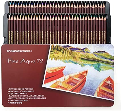 72 Lápices De Colores Pintura Profesional Para Colorear Caja De Hierro Soluble En Agua , 72 Colores , Caja De Hierro: Amazon.es: Oficina y papelería