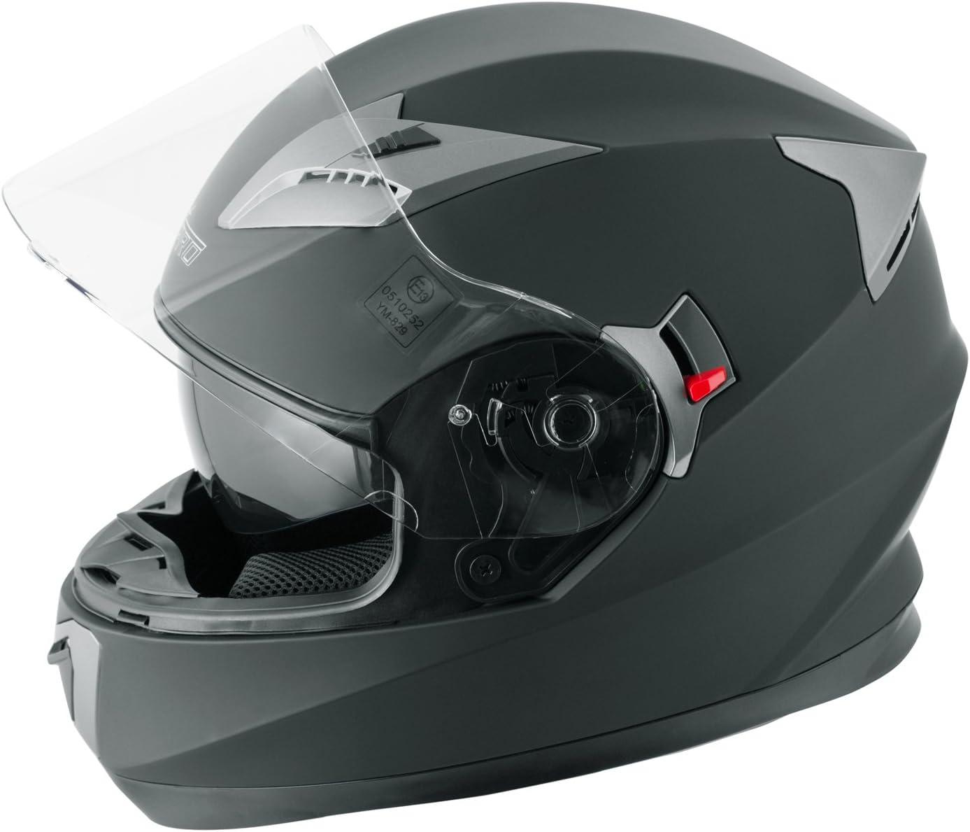 A-Pro Integralhelm Motorradhelm Rollerhelm Sonnenblende Helm Weiss S