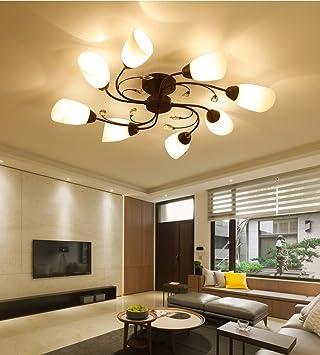 XI Chambre Créative Lampe de Plafond en Fer Forgé Salon ...