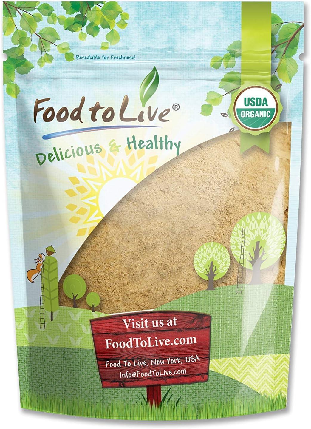 Organic Maca Powder, 2 Pounds - Gelatinized, Non-GMO, Kosher, Vegan, Bulk
