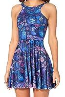 Jescakoo Girl's Reversible Printed Stretchy Spandex Skater Dress S-L