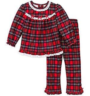 b74a471037 Amazon.com  Little Me Gown Girls  Christmas Pajamas - Red Plaid ...
