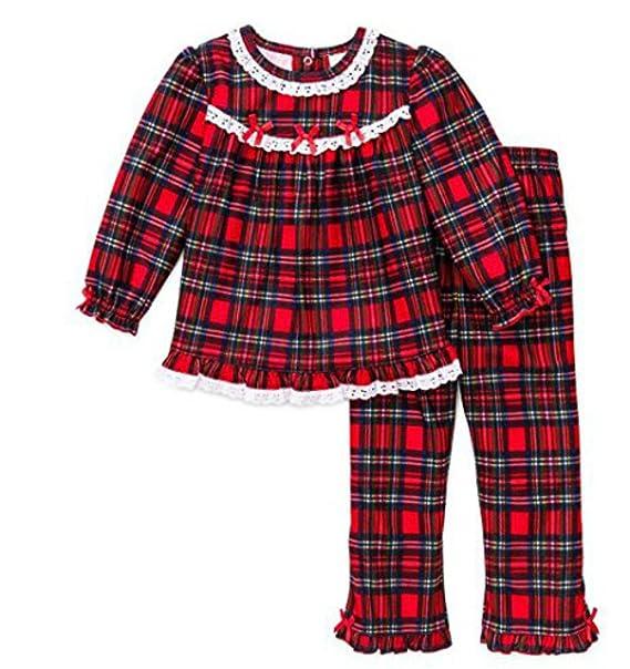 Toddler Christmas Pajamas.Little Me Girls Christmas Pajamas Infant Or Toddler Pant Set