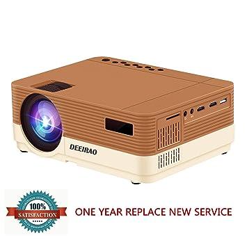 Deeirao Proyector portátil LED, 3600 lúmenes, proyector de vídeo ...
