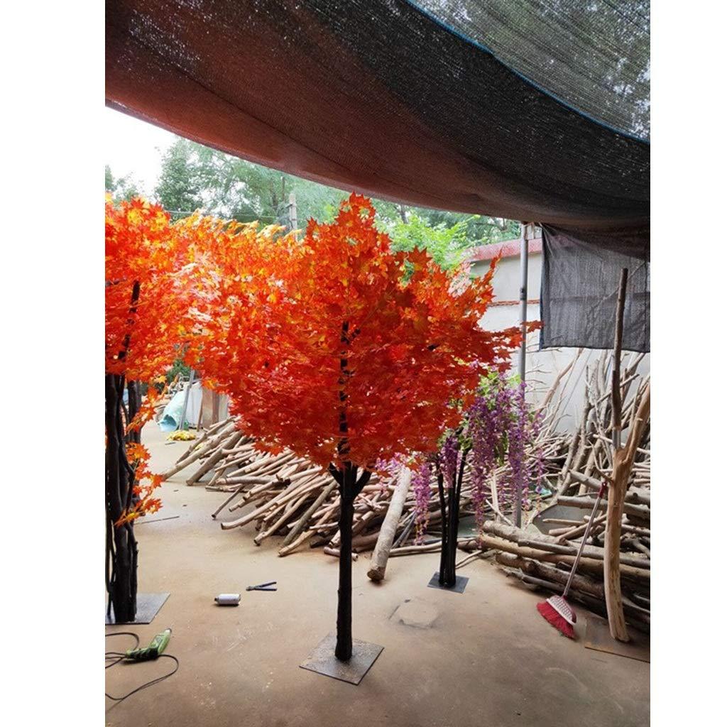 Alberi Artificiali ed ecologici Cave Progetti Size : 1.0m LKMAG Fiore Artificiale Grande Acero Rosso Banyan Tree for Europee Decorazione architettonica Progetti Case