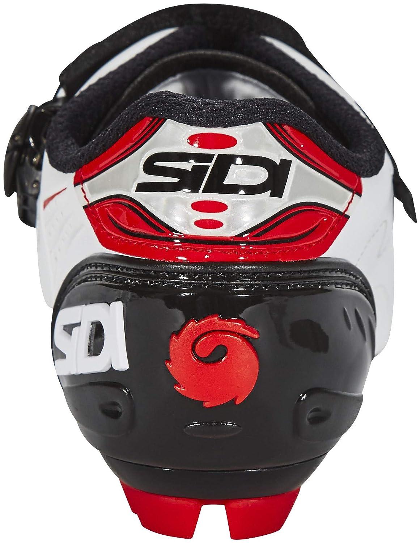 US 7 White//Black//Red 40 EUR Sidi Trace MTB Cycling Shoes