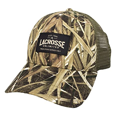 Amazon.com  Lacrosse Unlimited Trucker Hat -Camo  Sports   Outdoors a558912e7871