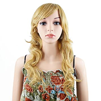 Amazon.com   Wendy Hair Beautiful Summer Blonde Color Body wave Wigs High  Temperature Synthetic Wig for Black Women   Beauty 8d32649ec