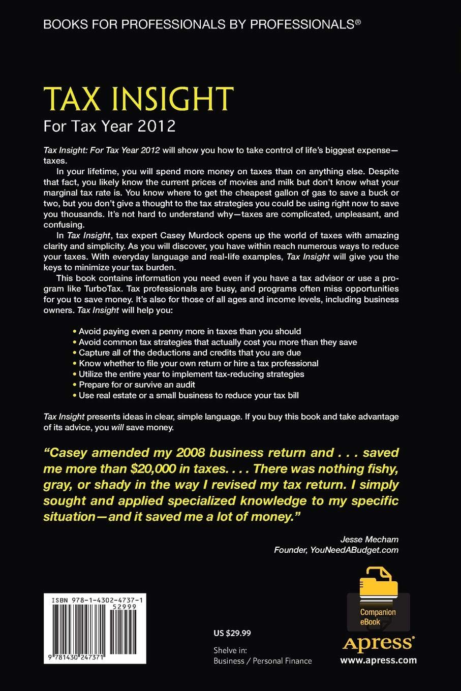 For Tax Year 2012